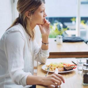 pensive-woman-food